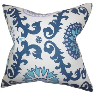 Kaula Blue 18 x 18 Geometric Throw Pillow