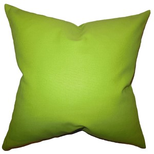 Kalindi Green 18 x 18 Solid Throw Pillow