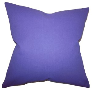 Kalindi Purple 18 x 18 Solid Throw Pillow