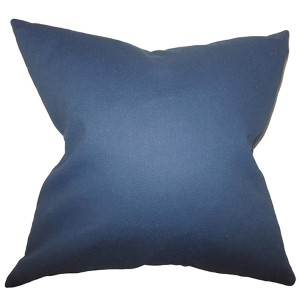 Kalindi Blue 18 x 18 Solid Throw Pillow
