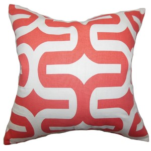 Jaslene Pink 18 x 18 Geometric Throw Pillow