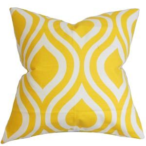 Larch Yellow 18 x 18 Geometric Throw Pillow