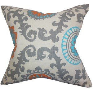Kaula Mandarin 18 x 18 Geometric Throw Pillow