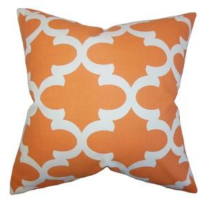 Titian Orange 18 x 18 Geometric Throw Pillow