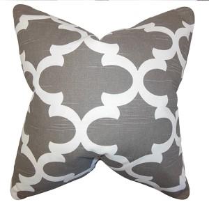 Titian Brown 18 x 18 Geometric Throw Pillow