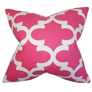 Titian Pink 18 x 18 Geometric Throw Pillow