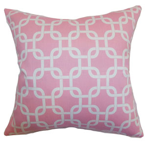 Qishn Geometric Pillow Baby Pink