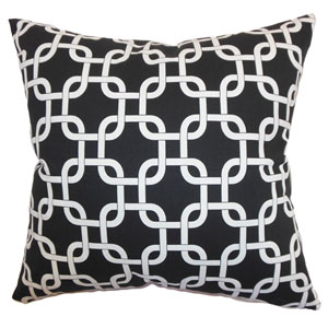 Qishn Geometric Pillow Black