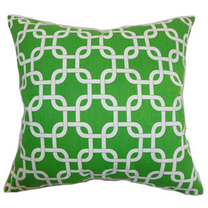 Qishn Geometric Pillow Callie White