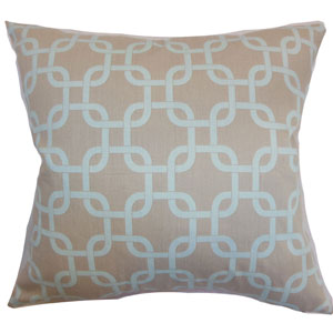 Qishn Geometric Pillow Powder Blue