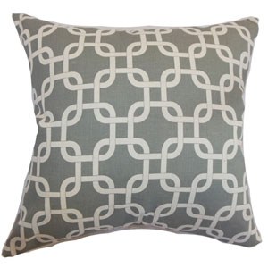 Qishn Geometric Pillow Summerland Grey