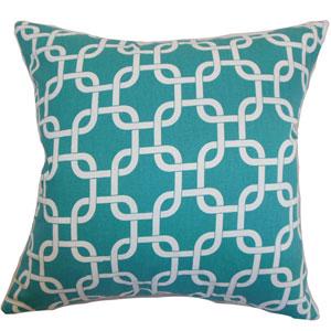 Qishn Geometric Pillow Turquoise