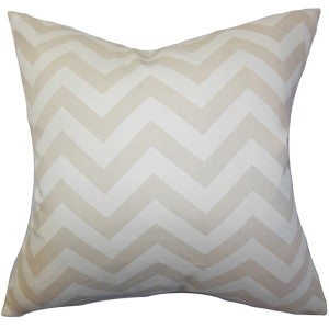 Xayabury Neutral 18 x 18 Zigzag Throw Pillow