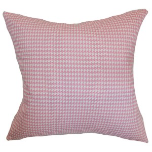 Lviv Pink 18 x 18 Plaid Throw Pillow