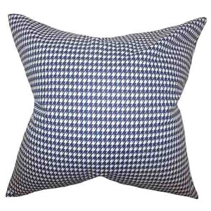 Lviv Blue 18 x 18 Plaid Throw Pillow
