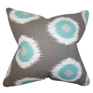 Paegna Gray 18 x 18 Patterned Throw Pillow