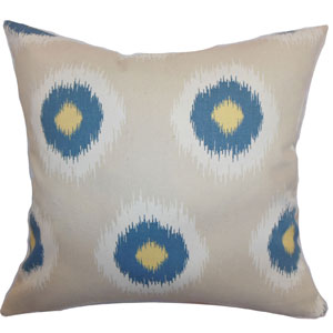 Paegna Ikat Pillow Denim Natural