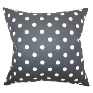 Rennice Ikat Dots Pillow Onyx Natural