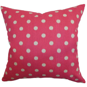 Rennice Ikat Dots Pillow Fuchsia