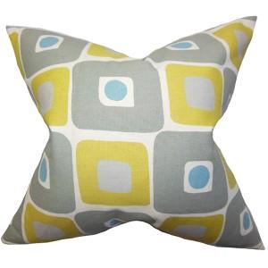 Delight Yellow 18 x 18 Geometric Throw Pillow