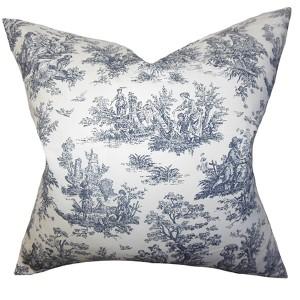Lalibela Black 18 x 18 Toile Throw Pillow