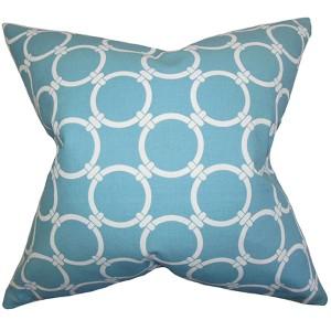 Bechet Apache Blue 18 x 18 Geometric Throw Pillow