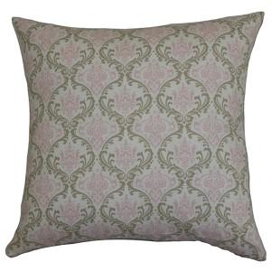 Paulomi Green 18 x 18 Patterned Throw Pillow