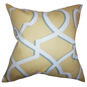 Curan Yellow 18 x 18 Geometric Throw Pillow