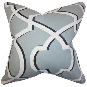 Curan Gray 18 x 18 Geometric Throw Pillow