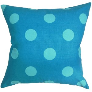 Rane Blue 18 x 18 Patterned Throw Pillow