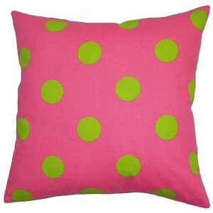 Rane Candy Pink 18 x 18 Patterned Throw Pillow