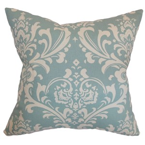 Malaga Blue 18 x 18 Patterned Throw Pillow