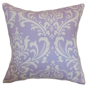 Malaga Purple 18 x 18 Patterned Throw Pillow