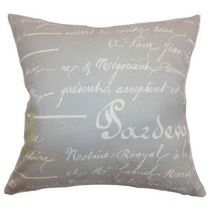 Saloua Typography Pillow Reed Natural