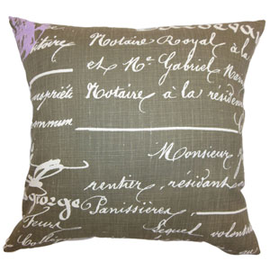 Saloua Typography Pillow Grapevine Dosset