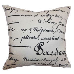 Saloua Typography Pillow Onyx Natural