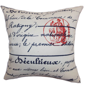 Saloua Typography Pillow Primary Natural