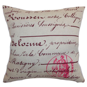 Saloua Typography Pillow Rosa