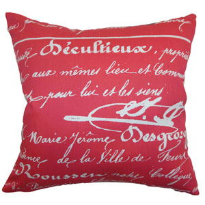 Saloua Typography Pillow Sherbet Twill