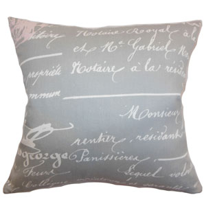 Saloua Typography Pillow Storm Twill