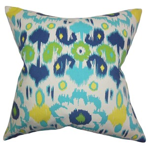 Querida Green 18 x 18 Patterned Throw Pillow