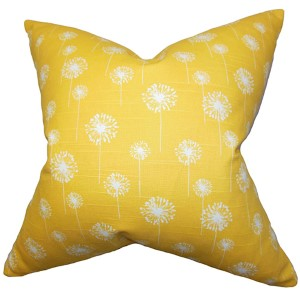 Joop Yellow 18 x 18 Floral Throw Pillow