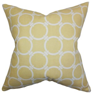 Betchet Yellow 18 x 18 Geometric Throw Pillow