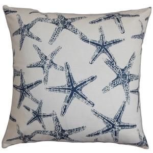 Ilene Navy 18 x 18 Coastal Throw Pillow