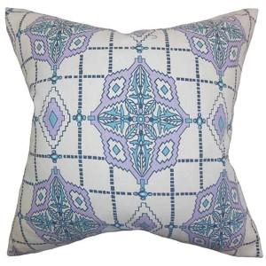 Huracan Purple 18 x 18 Geometric Throw Pillow