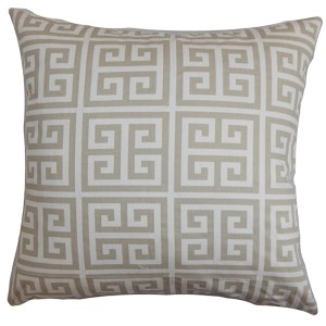 Paros Gray 18 x 18 Patterned Throw Pillow