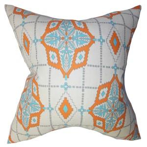 Huracan Blue 18 x 18 Geometric Throw Pillow