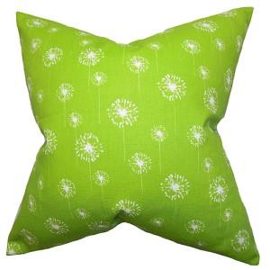 Joop Green 18 x 18 Floral Throw Pillow