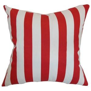 Ilaam Red 18 x 18 Stripes Throw Pillow