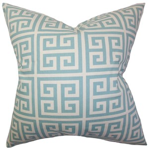 Paros Blue 18 x 18 Patterned Throw Pillow